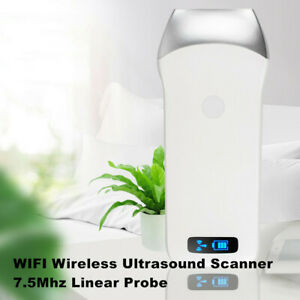 Wifi 7 5mhz Linear Probe Ultrasound Scanner Wireless Fit For Ios Android charge