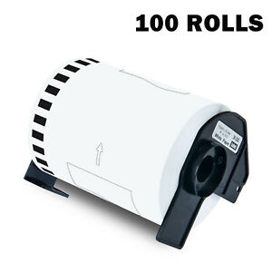 100 Roll Dk2243 2243 Continuous Label For Brother Ql 1050 4 X 100 W Frame