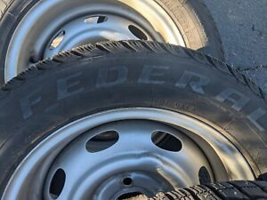 Volvo Amazon 122 Steel Wheel With Studded Snow Tires Excellent Condition