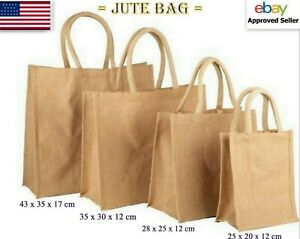 Wholesale Jute Hessian Bag All Size Shipping Packing Shopping Bags Handle