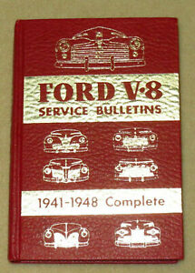 Ford V 8 Service Bulletins Hardcover Book 1941 1948 Ford Lincoln Merc Flathead