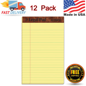 The Legal Pad Writing Pads 5 X 8 Jr Legal Rule Canary Paper 50 Sheets 12 Pack