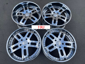 20 Porsche Boxster Cayman Forgiato Chrome Wheels 3 Piece 19u