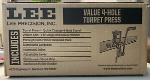 Lee Precision 4 Hole Turret Reloading Press with Auto Index # 90932 New $225.00