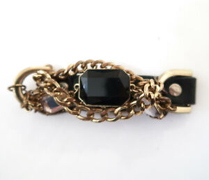 COOKIE LEE Chain amp; leather bracelet $18.00