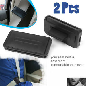 2psc Car Seat Belt Adjuster Buckle Strap Comfort Seatbelt Clips Extender Stopper