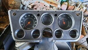 1967 1972 Chevy Truck Gauges 67 68 69 70 71 72 1968 1969 1970 1971 No Tach Oem