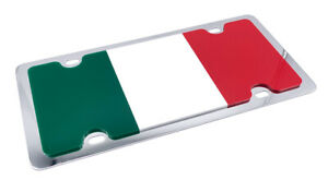Italian Italy Flag Metal Vanity License Plate Tag 3d Flag On Stainless Steel
