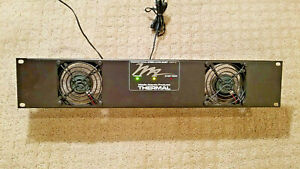 Middle Atlantic Products Uqfp 2 Ultra Quiet Thermal Fan Panel 50cfm At 24db euc