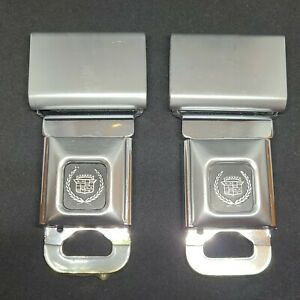 Cadillac Logo Seat Belt Buckle Push Button With Fixed Latch Seatbelt Buckle Set