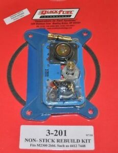2 Barrel Holley Carb Carburetor Rebuild Kit 4412 350 500 Cfm 3 201