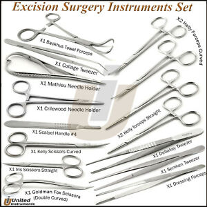 Surgical Excision Set Minor Surgery Medical Needle Holder Scissors Instruments