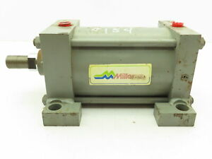 Miller A72b2c Pneumatic Air Cylinder Dbl Acting 5 Bore 5 Stroke 250psi Foot Mt