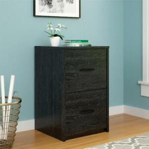 Wood Cabinet 2 Spacious Drawer Home Office File Small Space Organizer Box New Us