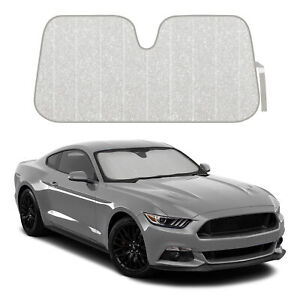 Auto Windshield Sunshade Universal Sun Visor For Car Suv Truck Silver Glitter