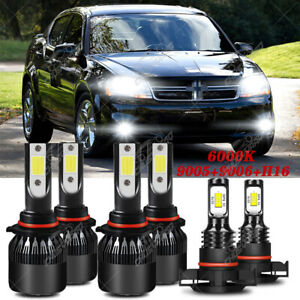 For Dodge Avenger 2010 2011 2012 2013 6 Led Headlight Bulb Hi lo Beam fog Light