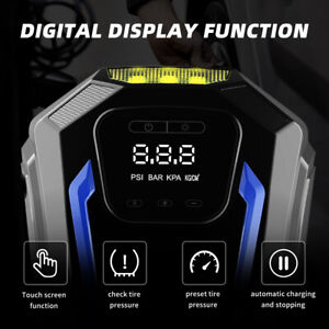 Portable Digital Tire Inflator Car Air Pump Compressor Electric Auto Stop Dc 12v