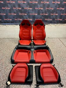 2019 Ford Mustang Gt Oem Red Leather Recaro Front Rear Seats Coupe read
