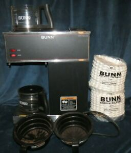 Bunn 33200 0001 Pour Over Coffee Brewer 2 Glass Pots 1000 Filters Included