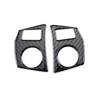 2pcs Carbon Fiber Steering Wheel Button Cover Trim For Toyota Corolla 2014 2018