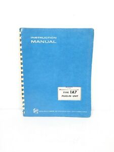 Tektronix Instruction Manual Type 1a7 Plug in Unit Original Complete exc Cond
