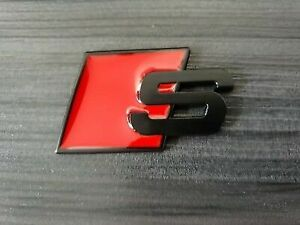S line Audi Sports Metal S Boot Badge Black A3 A4 A5 A6 A8 S S3 S4 S5 S8 Rs3 Rs4