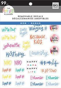 The Happy Planner Dry Erase Decals Mom Life Icons 99 Pieces