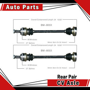 Rear Left Right Pair 2pcs Cv Axle Shaft Assembly Fits 1992 Bmw 318i Surtrack