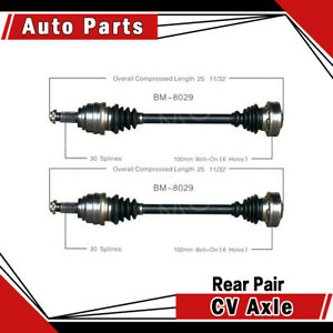 Rear Left Right Pair 2pcs Cv Axle Shaft Assembly Fits 2000 Bmw X5 Surtrack