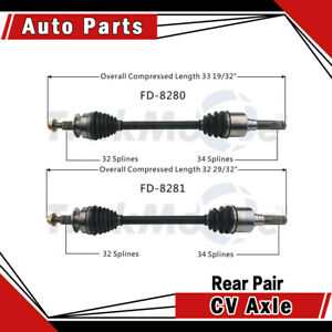 Rear Pair Left Right 2pcs Cv Axle Shaft Fits 2015 2016 Ford Mustang Gt Surtrack