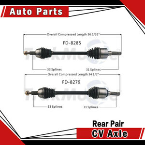 Rear Pair Left Right 2pcs Cv Axle Shaft Fits 2003 2006 Ford Expedition Surtrack