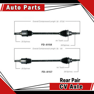 Rear Left Right Pair 2pcs Cv Axle Shaft Fits 2007 2010 Ford Edge Awd Surtrack