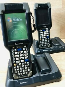 Intermec Ck3 Mobile Computer Barcode Scanner With Charging Dock 2 Batteries