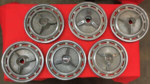 1960 s Chevrolet Impala Chevy Ss 14 Spinner Wheel Cover Hubcaps Lot Of 6