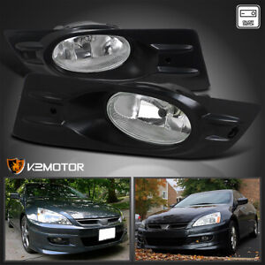 For 2006 2007 Honda Accord 2dr Coupe Clear Bumper Fog Lights Lamps switch wiring