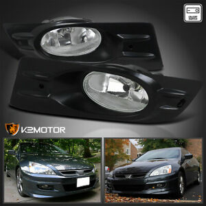 For 2006 2007 Honda Accord 2dr Coupe Clear Bumper Fog Lights Lamps W Switch