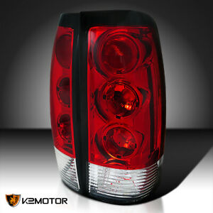 For 1999 2002 Chevy Silverado Gmc Sierra Red Rear Brake Tail Lights Lamps Pair