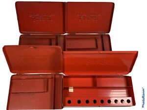 Lot Of 4 Snap On Tools Socket Wrenches Tool Box Empty Red Rare
