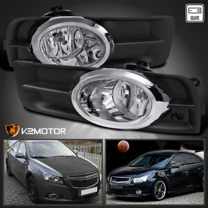 For 2011 2014 Chevy Cruze Clear Bumper Fog Lights Driving Lamps switch 11 14