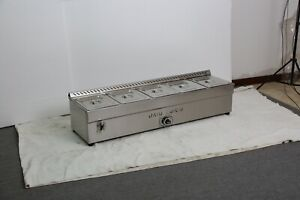 Intbuying 5 pan Propane Gas Steam Table Food Warmer 5 Grid Stainless Pots