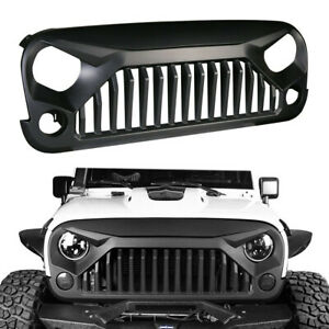 For 2007 2018 Jeep Wrangler Jk Unlimited Front Bumper Grille Grill Angry Bird