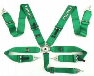 Racing Seat Belts Sport M 5116 5 points 3 Green Takata Replica Harness