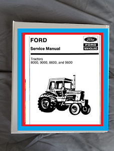 Ford 8000 9000 96000 8600 Tractor Service Manual Workshop Binder