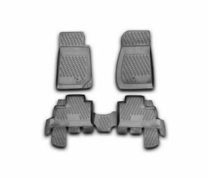 Jeep Wrangler 2007 2008 2009 2010 2011 2012 Black Vd484 Tpe Car Mats Rubber