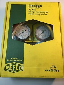 New Open Box Refco Manifold Bm2 6 f r410a fg ccl 60 With Charging Hoses