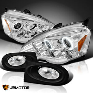For 2002 2004 Acura Rsx Clear Halo Projector Headlights Bumper Fog Lamps Switch
