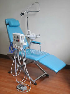 Portable Dental Lab Equipment Luxury Type Led Light Folding Chair Rechargeable