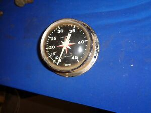 Vintage Airguide Sea Speed Marine Boat Speedometer 0 45mph Chris Craft