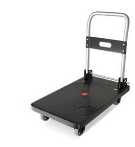 Push Cart Dolly Moving Platform Hand Truck Foldable 360 Wivel Wheels Pick Up On