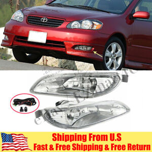 Clear Fog Lights For 2005 2007 2008 Toyota Corolla Bumper Lamp Switch Wiring Kit